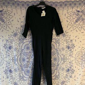 Black PUMA Jumpsuit w/ velour accents!